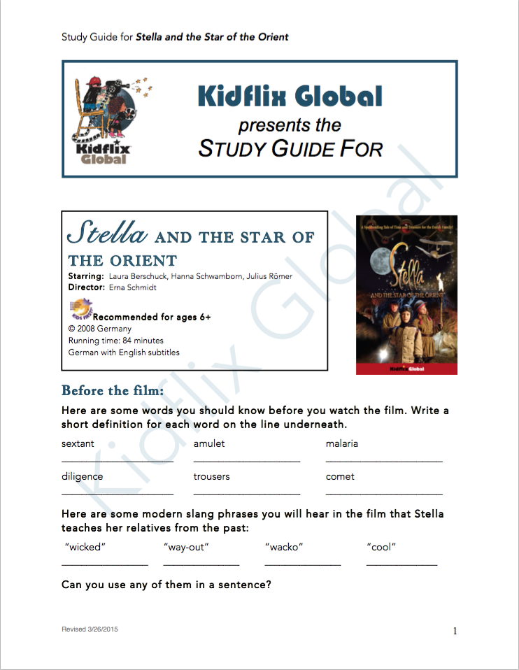 stella and the star of the orient study guide kidflix global rh kidflixglobal com Study Guide Outline relative aging study guide answer key